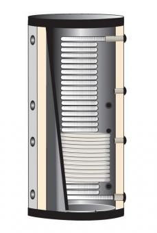Hygiene Pufferspeicher 600 Liter mit 1 Solarwärmetauscher