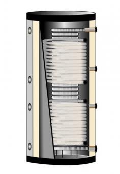 Hygiene Pufferspeicher 600 Liter mit 2 Solarwärmetauschern