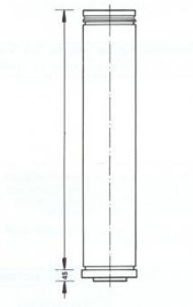 Wanddurchführung Rohr verstellbar 50 bis 250 mm Bertrams DW Edelstahlschornstein Ø 150 mm