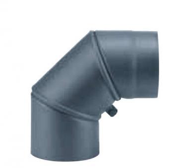 Ofenrohr 150 mm 90° Bogen drehbar