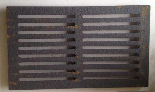 Gussrost 34 x 21 cm rechteckig für Kaminofen und Kamin