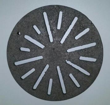 Gussrost rund 23,5 cm Durchmesser für Kaminofen und Kamin
