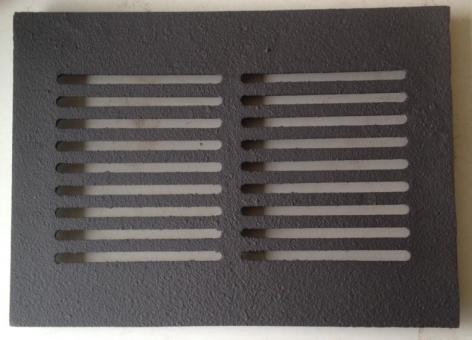 Gussrost 36,5 x 27,5 cm rechteckig für Kaminofen und Kamin