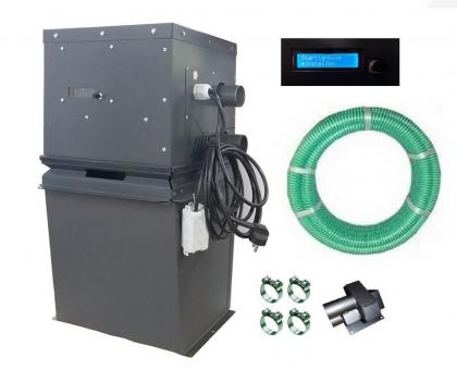 Pelletsaugsystem universal mit Steuerung autark - Aufsatz zum Nachrüsten mit Pellet-Förderschlauch 25 m