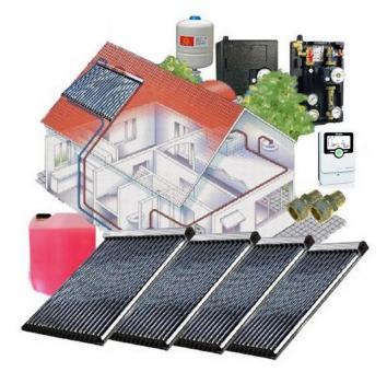Solaranlage 20,20 m² Vakuumröhren 4 x Westech WT-B58-30