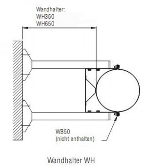 Wandhalter für WBN 105-650 mm Bertrams DW Edelstahlschornstein Ø 150 mm
