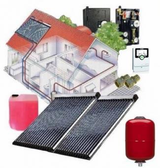 Solaranlage 7,52 m² Vakuumröhren 2 x Westech WT-B58-22