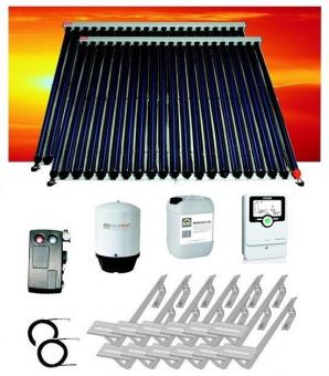 Solaranlage 8,80 m² Vakuumröhren 2 x Zeus cpc-20