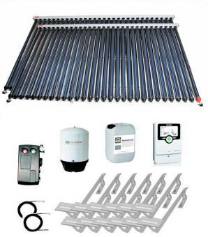 Solaranlage 13,34 m² Vakuumröhren 2 x Zeus cpc-30